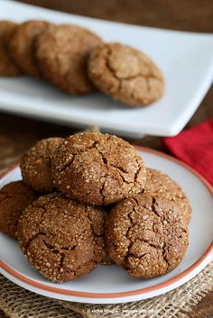 These Gluten free Ginger Molasses cookies are easy & have a few ingredients. Look at those crinkles! no shortening.Vegan, Dairy-free, Palm-oil-free Recipe