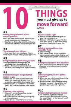10 Things You Must Give Up To Move Forward | Self-improvement Tips