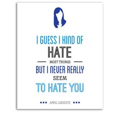 Parks and Rec Typography Print April Ludgate Quote by PopArtPress