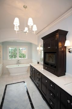 Marble Bathrooms With Dark Wood Vanity Design, Pictures, Remodel, Decor and Ideas - page 14