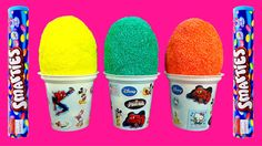 foam clay surprise eggs ice cream toys spiderman cars hot wheels