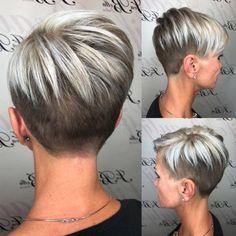 New short hair undercut women bob ideas Undercut Women, Short Hair Undercut, Short Pixie Haircuts, Undercut Hairstyles, Pixie Hairstyles, Short Hairstyles For Women, Hairstyles 2018, Haircut Short, Short Hair Cuts For Women Trendy