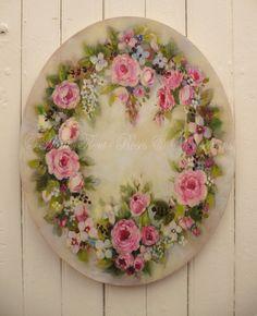 Ovale aux Roses Pierre de Ronsard - atelier Hélène Flont