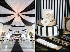 Black and white wedding ideas together make for a great theme defined by modernity and contemporary style–and there's nothing we love more than fresh, colorful weddings! Get creative, and accent black and white with s...