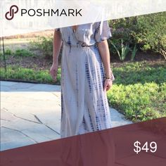 Tie Dye Maxi Material: 100% Rayon Detail: True wrap dress & TIE-DYE!! Sizing: True to size SW Tip: Nursing Friendly!  [I am 5'3 - size 2ish - wearing a Small] the dress runs long for the shorter crew Dresses Maxi
