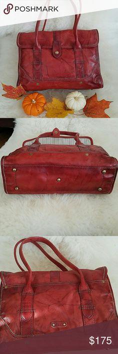 Frye red bag Beautiful Frye bag.  In great condition. Clean inside and outside. Frye Bags Shoulder Bags