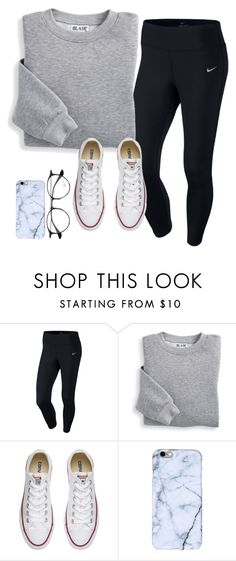 """super comfy for a snowy day"" by maddieharris01 on Polyvore featuring NIKE, Blair, Converse and Ray-Ban"
