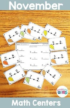 November Count the Room Math Task CardsThis November themed Count the Room/T. Teacher Created Resources, Teacher Resources, Teaching Ideas, September Themes, November, Activity Centers, Math Centers, Math Task Cards, Hands On Activities