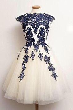 New Arrival Appliques Evening Dress, Knee-Length Evening Dress, Sweetheart…