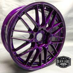 Dormant Purple Custom Powder Coated Rims   http://www.columbiacoatings.com/store/p/31-Dormant-Purple-TGIC.aspx  #powdercoating #powdercoated #powdercoat #Automobile #Engine #Black #Texture #Custom #Fabrication #Cars #motorcycle
