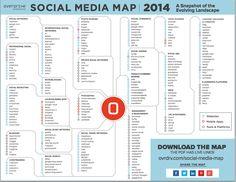 Die Social Media Karte 2014 - Futurebiz.de