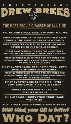 Drew Brees always breaking records and making history!!