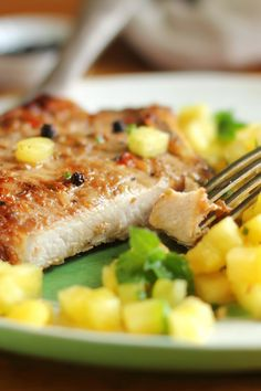 Grilled Jerk Pork Tenderloin and Pineapple Mango-Kiwi Salsa Recipe