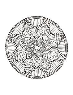 Mandala 471, Mystical Mandala Coloring Book, Dover Publications