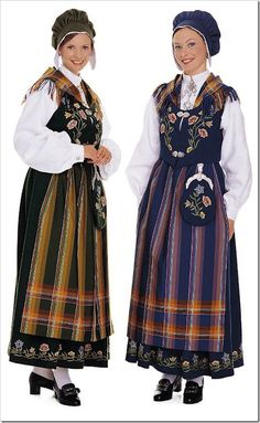 Nordlandsbunad. Bunad  National costume from North Norway. Available in green or blue. Beautiful!!