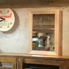 【楽天市場】OLD ASHIBA(足場板古材)ミラーキャビネット Lサイズ 無塗装幅500mm×高さ680mm×奥行150mm【洗面収納棚】【洗面鏡】【アンティーク風】【受注生産】 【小型商品】:WOODPRO(ウッドプロ) Bathroom Medicine Cabinet, Furniture