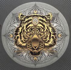 Tiger Drawing, Tiger Art, Tiger Illustration, Graphic Illustration, Tiger Tattoo Design, Head Tattoos, Graphic Design Layouts, Animal Totems, Lion Tattoo