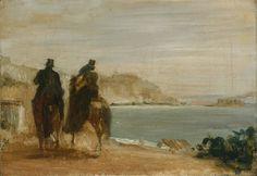 Эдгар Дега - Прогулка по берегу моря. Национальная галерея. Лондон