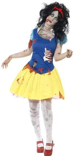 Buy Adult Zombie Snow Fright Costume, available for Next Day Delivery. Our Adult Zombie Snow Fright Costume comes complete with Blue and Yellow Blood Stained Dress with Latex Chest Piece and Matching Red Bow Headband. Halloween Zombie, Halloween Fancy Dress, Adult Halloween, Halloween Makeup, Halloween Party, Zombie Makeup, Group Halloween, Women Halloween, Disney Halloween