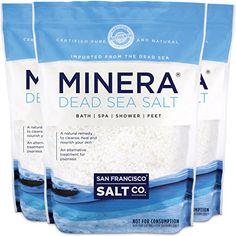 Minera Fine Grain Dead Sea (Blue) Salt Pure and Certified. Natural treatment for psoriasis eczema acne and Dead Sea Minerals, Sea Salt Benefits, Diy Fizzy Bath Salts, Minions, Gentle Detox, Mineral Salt, Natural Cleanse, Smoothie Detox, Minerals