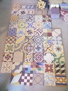 Patchwork Tiles, TIle Patchworks, Patchwork Encaustic Tiles, Patchwork Cement Tiles, Floor Tiles, Wall TIles | Alhambra Home & Garden