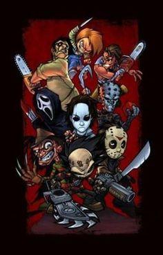 A list of Best Animated Horror Cartoon Characters and stop motion Horror Cartoons and Characters. Horror Cartoon, Horror Icons, Horror Movie Characters, Horror Movies, Comedy Movies, Posca Art, Horror Artwork, Arte Horror, Art Graphique