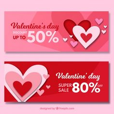 Valentines day sale banners Free Vector http://ift.tt/2rslA7b
