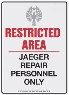 PACIFIC RIM Viral Posters - Kaiju Attack Warning & JaegerRepair - News - GeekTyrant