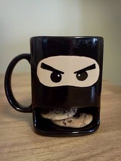 Ninja mug with a place to store your cookies!