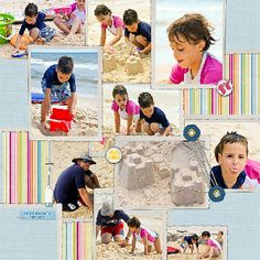 I'm always looking for a scrapbook layout with lots of photos.