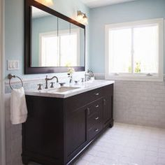 Traditional Bathroom Dark Vanity Cabinets Vanities Colors Ideas