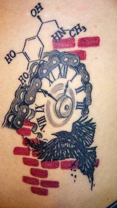Biker Tattoos, Body Tattoos, I Tattoo, Sleeve Tattoos, Tatoos, Cycling Tattoo, Bicycle Tattoo, Candy Tattoo, Trash Polka Tattoo