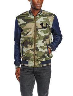 True Religon Jacket Camo Denim in Green M