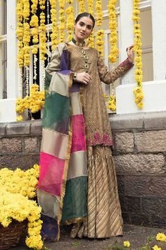Style statements for every occasion! perfect mix of luxe fabrics, embellishments and embroideries! 💕 For details contact us. Pakistani Wedding Outfits, Wedding Dresses For Girls, Party Wear Dresses, Bridal Outfits, Gharara Designs, Kurta Designs Women, Simple Pakistani Dresses, Pakistani Dress Design, Shadi Dresses
