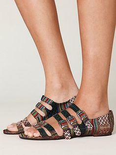 Jeffrey Campbell Cayman Fabric Sandal at Free People Clothing Boutique - StyleSays