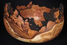 Spectacular aspen burl bowl turned by Lou Pignolet Wood Turned Bowls, Wood Bowls, Turned Wood, Woodworking Apron, Cool Woodworking Projects, Lathe Projects, Woodworking Tools, Small Wood Projects, Wood Turning Projects