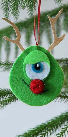 Mike Wazowski Rudolph Nose Ornament