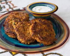Ethiopian Latkes w/sweet potato & carrot - requires ground flaxseed or teff seeds