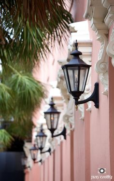 l-e-v:    Charleston gas lamps at the Mills House Hotel115 Meeting Street