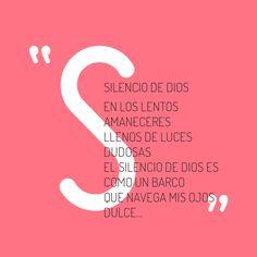"""con la S...""""silencio de dios"""""""