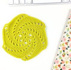 swirly hexagon free crochet pattern