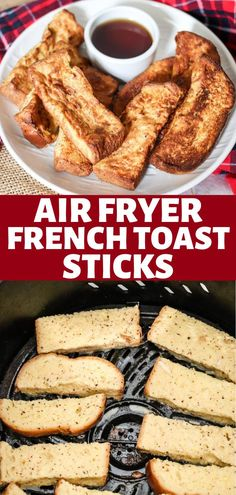 Homemade Air Fryer French Toast Sticks are so easy and delicious! Eat them fresh or freeze and reheat later for a quick breakfast! Delicious Fruit, Yummy Food, Delicious Recipes, Brunch Recipes, Breakfast Recipes, Breakfast Ideas, Homemade French Toast, Brunch Items, French Toast Sticks