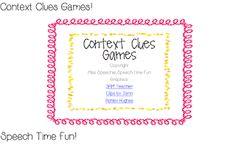 Speech Time Fun: Context Clues Games!