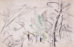 Paul Cézanne - Trees (Arbres)