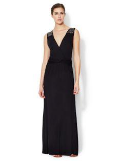 Avaleigh Beaded Shoulder Maxi Dress