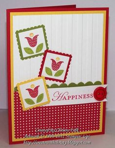 Happiness by StampinChristy - Cards and Paper Crafts at Splitcoaststampers