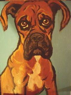 Custom Dog Portraits/ Pet Portraits from your photograph. Acrylic on canvas Dog Painting/Pet Painting