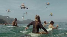 波乗り中にカップヌードルを届けてくれるドローン | AdGang http://adgang.jp/2014/08/72337.html