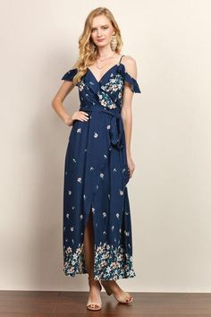 Beautiful Womens cold shoulder Maxi Dress