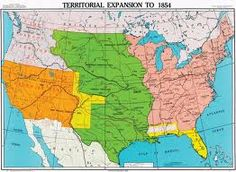 United States In US History Map History And Politics - Blank blank map of the us 1854